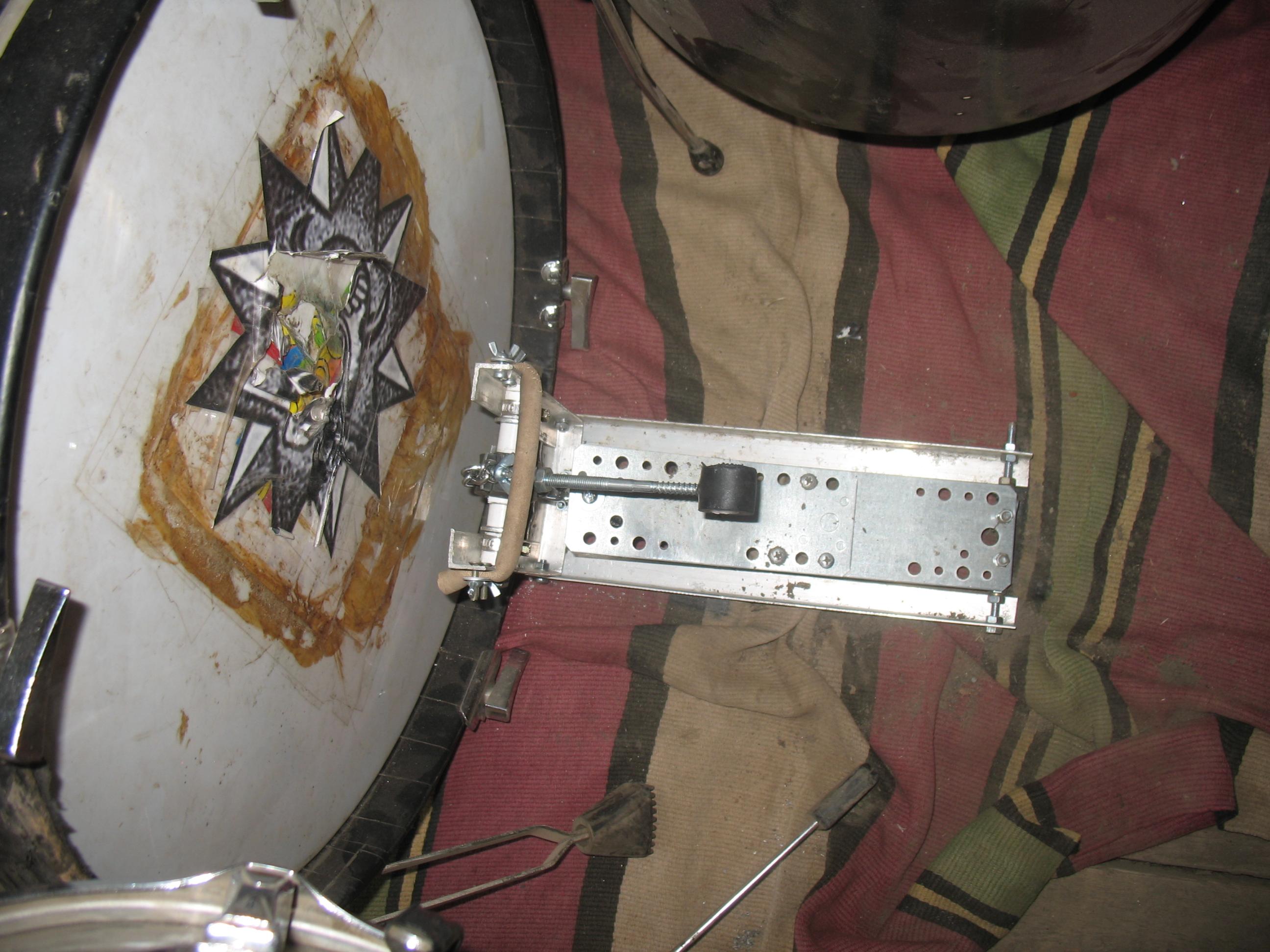 Двойная педаль для бас барабана своими руками