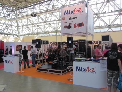 Стенд компании MixArt представляющий MarkDrum