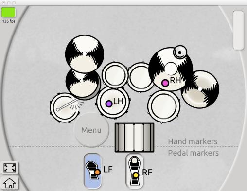 Интерфейc программы Aerodrums