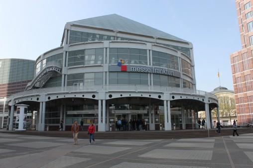 Франкфурт Messe стою перед входом