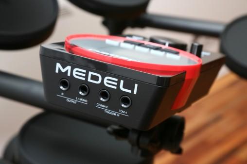 Модуль Medeli DD610 имеет два дополнительных входа для крэша и тома.